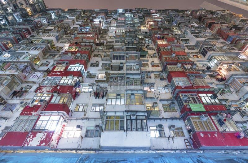 Constru??o residencial velha em Hong Kong City fotos de stock royalty free