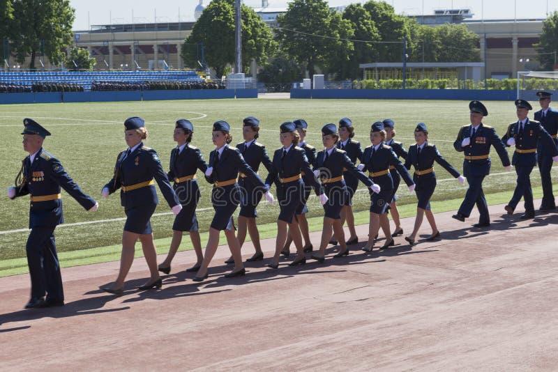 Construa a academia de espaço militar da edição fêmea dos tenentes 305 nomeada após Alexander Fedorovich Mozhaysky fotografia de stock royalty free