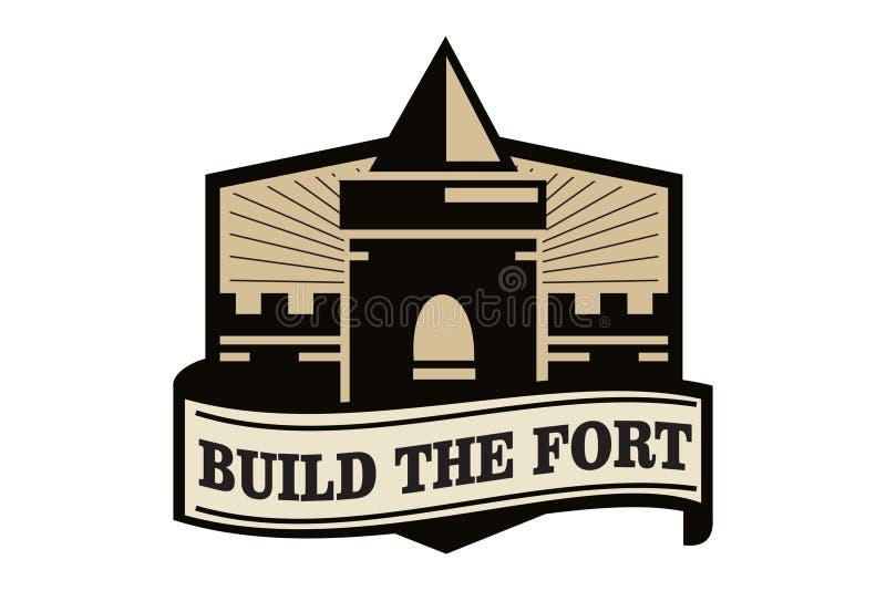 Construa o logotipo do forte ilustração do vetor