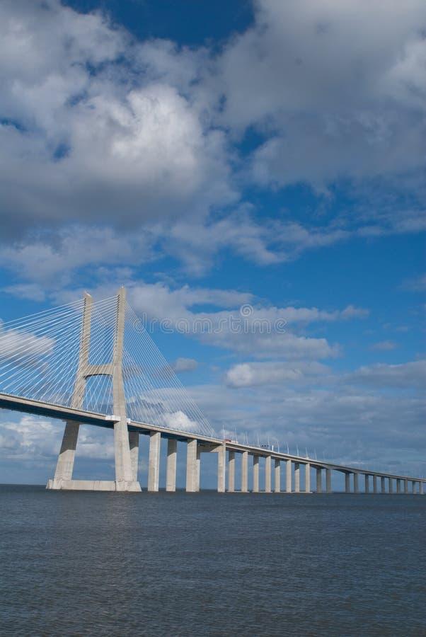 Construa uma ponte sobre Gama Lisboa Portugal de Vasco a Dinamarca fotos de stock royalty free