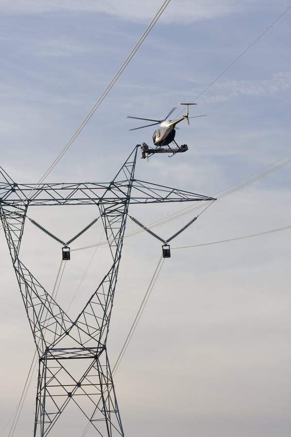 construc直升机生产线上限 图库摄影