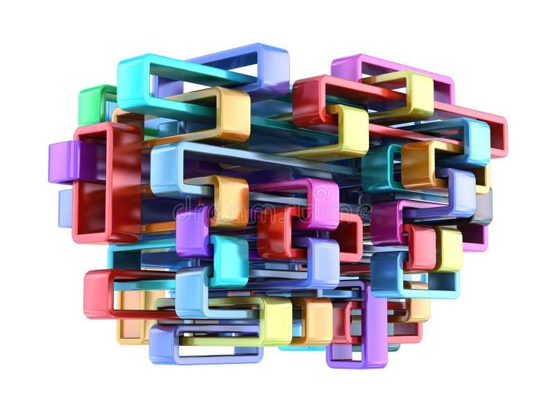 Construcción abstracta colorida brillante ilustración del vector