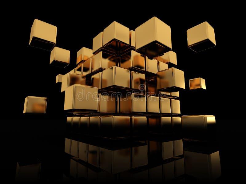 Construcción abstracta del cubo stock de ilustración