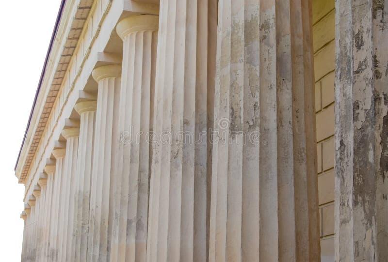 Construcción arquitectónica con las columnas fotografía de archivo