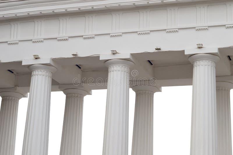Construcción arquitectónica con las columnas fotos de archivo libres de regalías