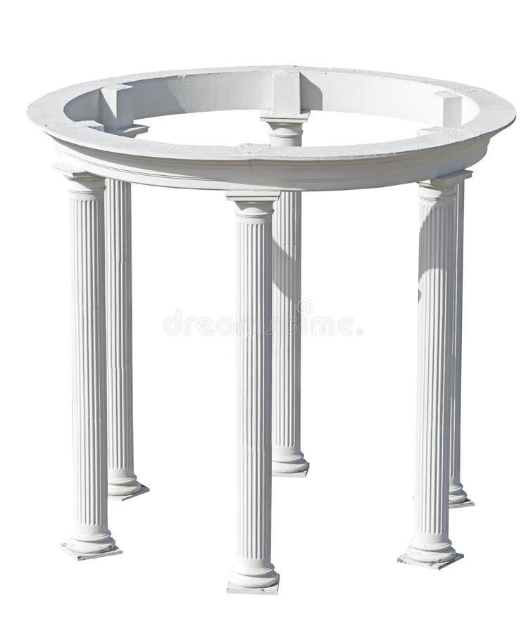 Construcción arquitectónica con las columnas imágenes de archivo libres de regalías