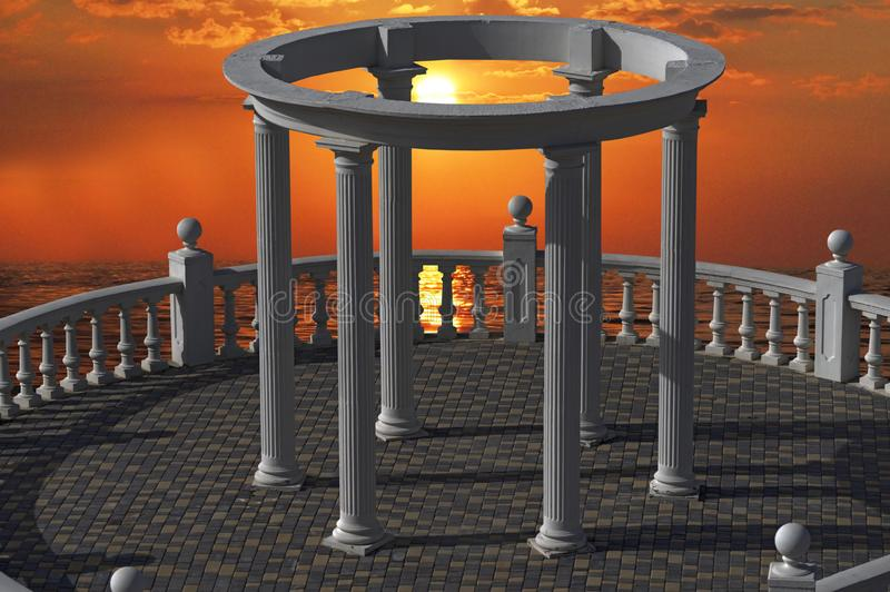 Construcción arquitectónica con las columnas imagen de archivo libre de regalías