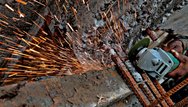Construcción constructiva Surat, la India fotografía de archivo