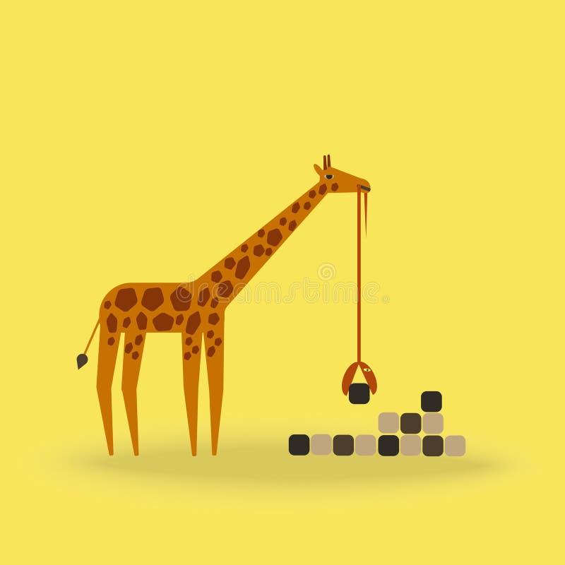 Construcción de edificios abstracta de la jirafa y de la serpiente libre illustration