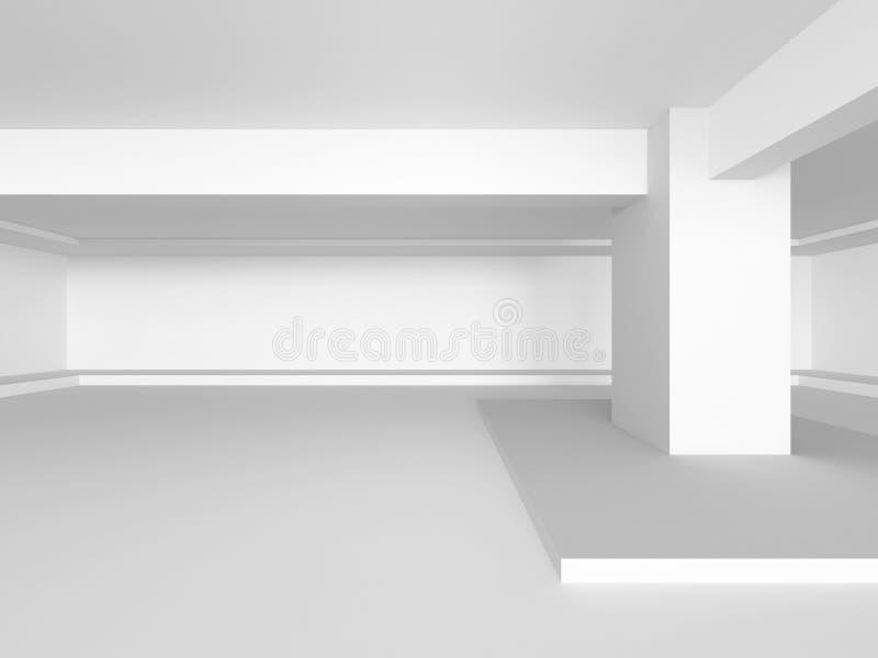 Construcción de edificios blanca Abstraiga el fondo de la configuración ilustración del vector