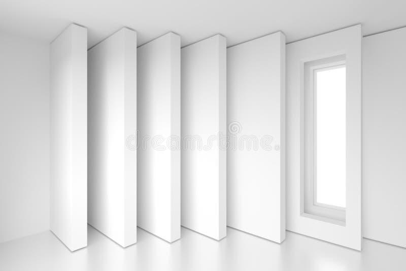 Construcción de edificios blanca Vagos futuristas abstractos de la arquitectura ilustración del vector