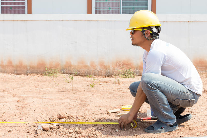 Construcción de edificios de la encuesta fotos de archivo