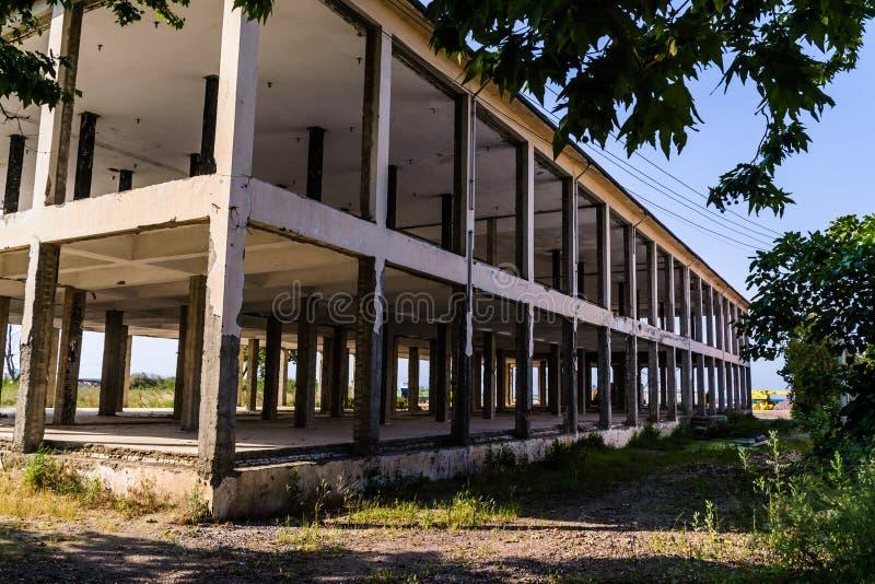 Construcción de edificios Desolated - Turquía imagen de archivo libre de regalías