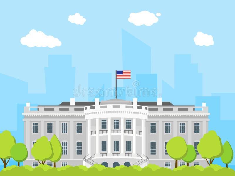 Construcci n de la casa blanca de la historieta vector - Planos de la casa blanca ...