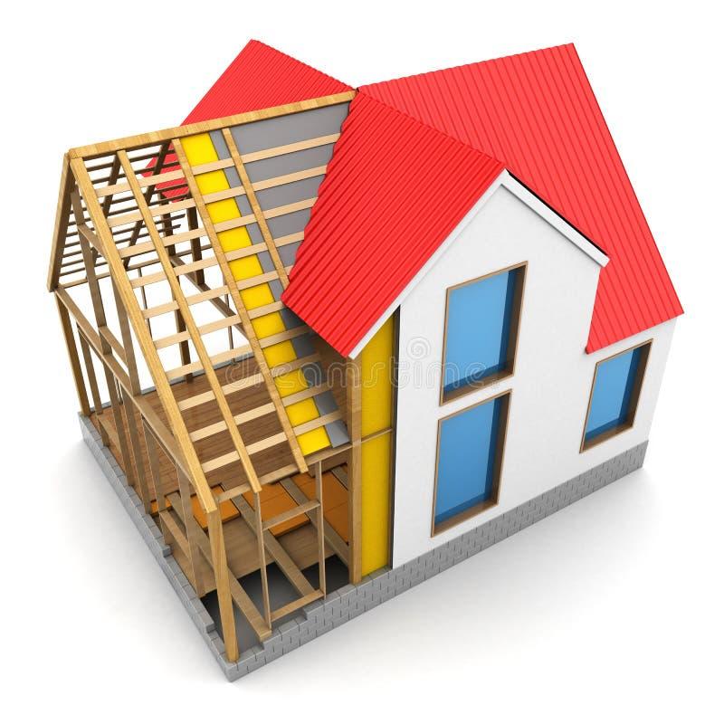 Construcción de la casa de capítulo stock de ilustración