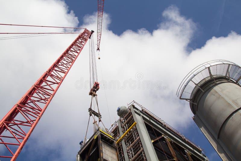 Construcción de la central eléctrica fotos de archivo