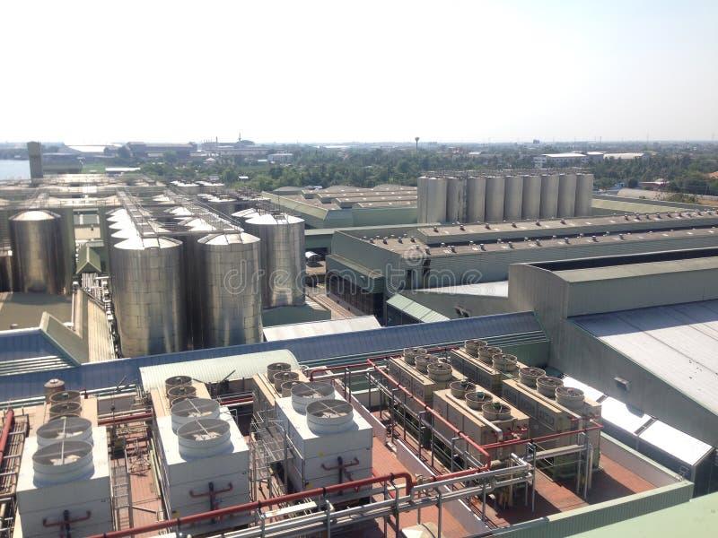 construcción de la cerveza de la cervecería de la fábrica imagen de archivo