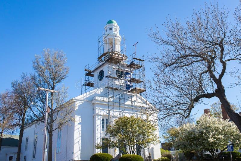 Construcción de la iglesia imagenes de archivo
