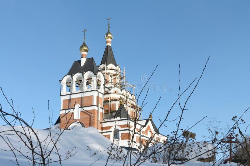 Construcción de la iglesia ortodoxa foto de archivo libre de regalías