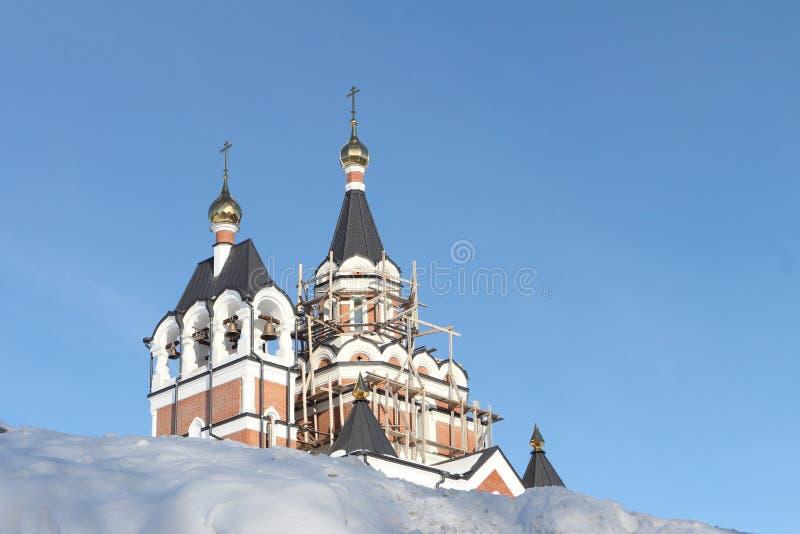 Construcción de la iglesia ortodoxa fotografía de archivo libre de regalías