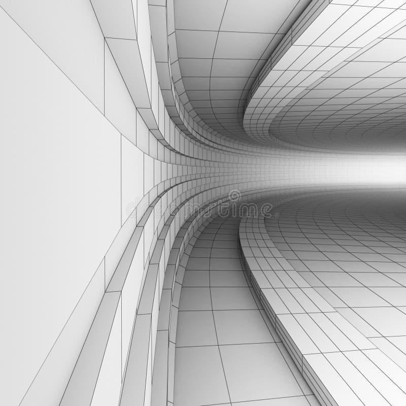 construcción de la ingeniería 3D stock de ilustración