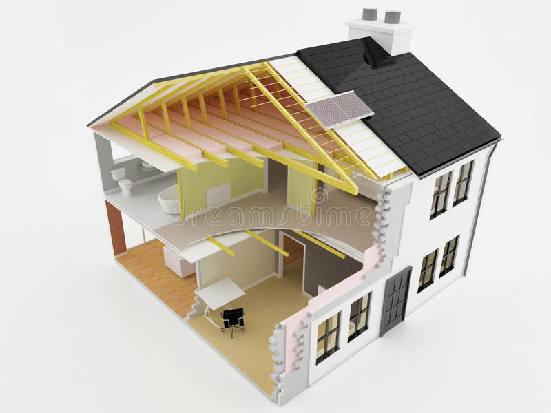 Construcción de la nueva casa stock de ilustración