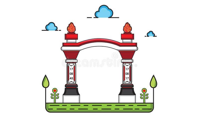 Construcción de la puerta libre illustration