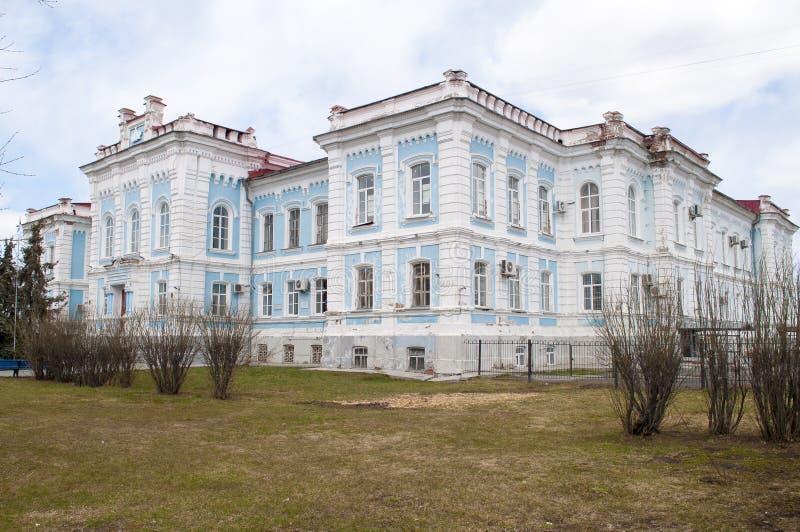 Construcción de la universidad agrícola del estado de la región septentrional transporte-Ural Tyumen, Rusia fotografía de archivo libre de regalías