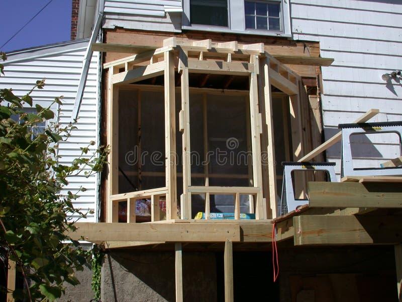 Construcción de la ventana de bahía foto de archivo libre de regalías