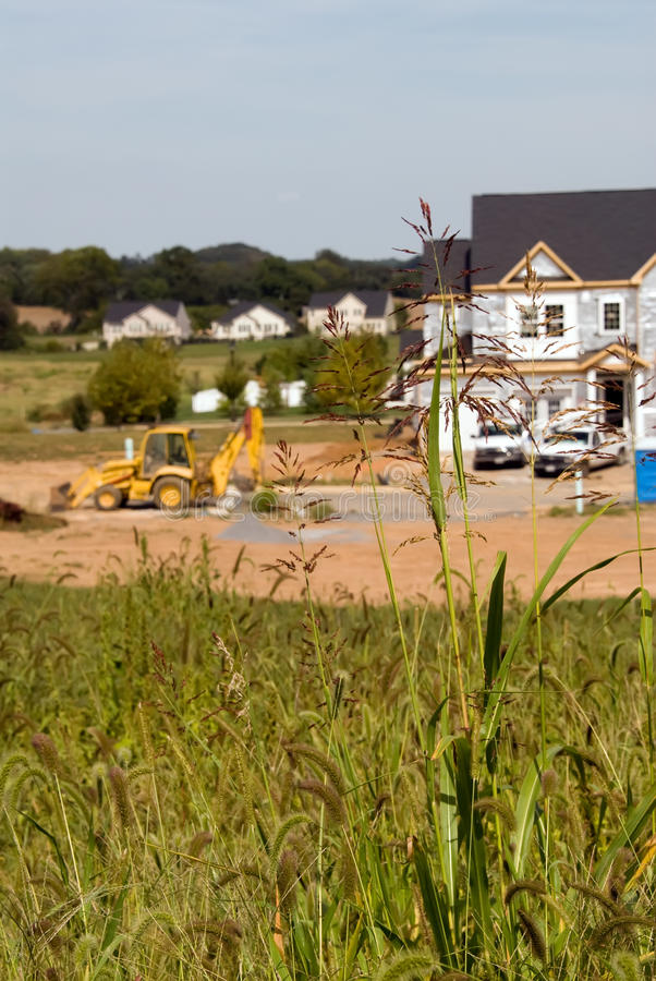 Construcción de las nuevas viviendas imagenes de archivo