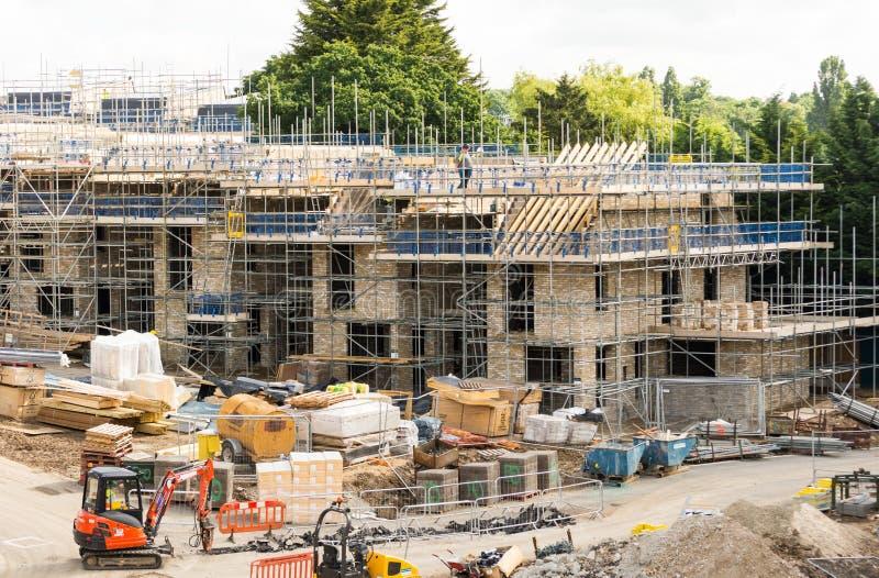 Construcción de las nuevas viviendas en Inglaterra imagenes de archivo