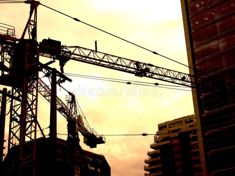 Construcción de los criticones del cielo foto de archivo