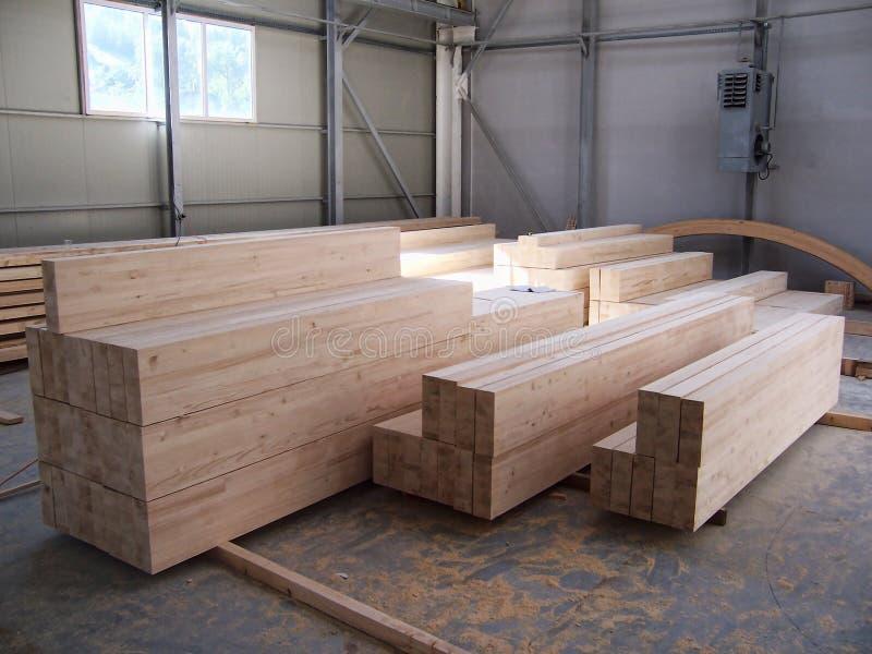 Construcción de los haces de madera fotos de archivo
