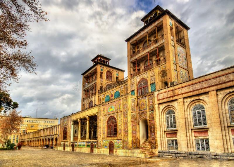 Construcción de los impostores-ol-Emaneh del palacio de Golestan foto de archivo