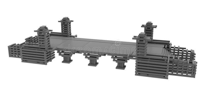 Construcción de puente ilustración del vector