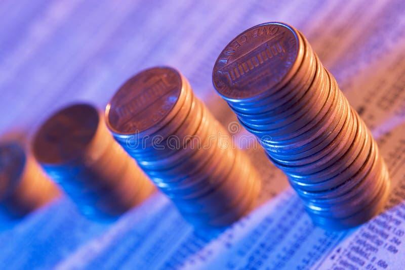 Construcción de su futuro financiero fotos de archivo