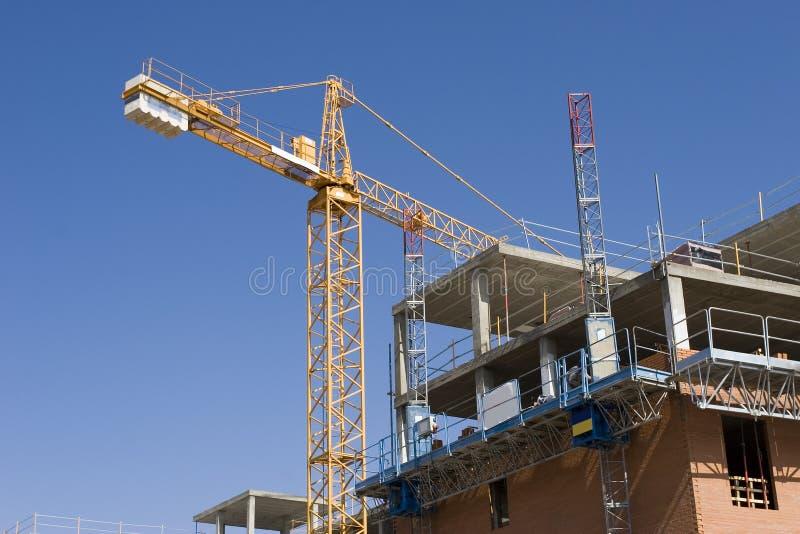 Construcción de un edificio imagenes de archivo