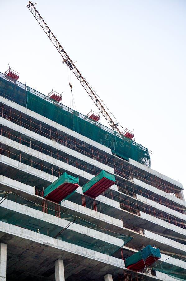 Construcción de un edificio en Delhi fotografía de archivo libre de regalías