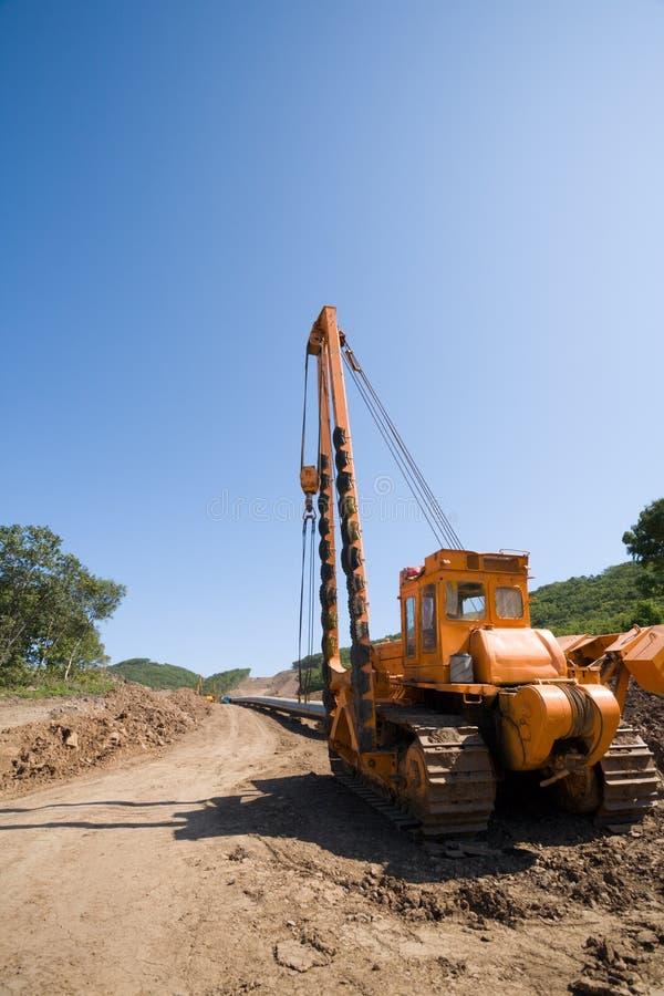 Construcción de un nuevo oleoducto fotos de archivo