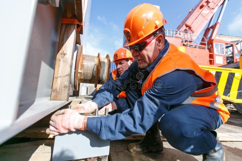 Construcción de una central térmico del este en Vladivostok imagen de archivo libre de regalías