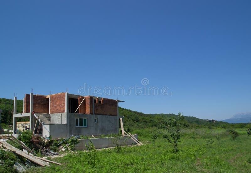 Construcción de una nueva casa Estilo europeo fotos de archivo libres de regalías