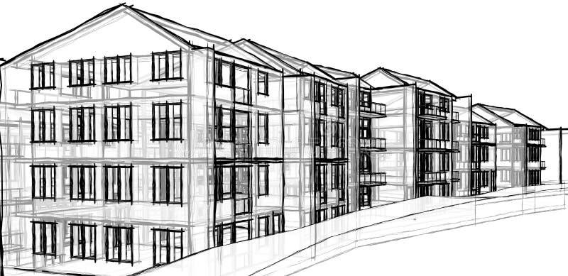 Construcción de viviendas ilustración del vector