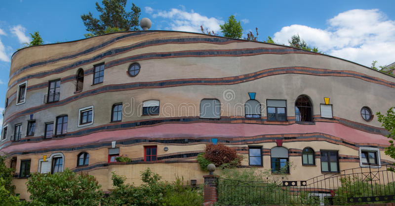 Construcción de viviendas de Waldspirale fotografía de archivo