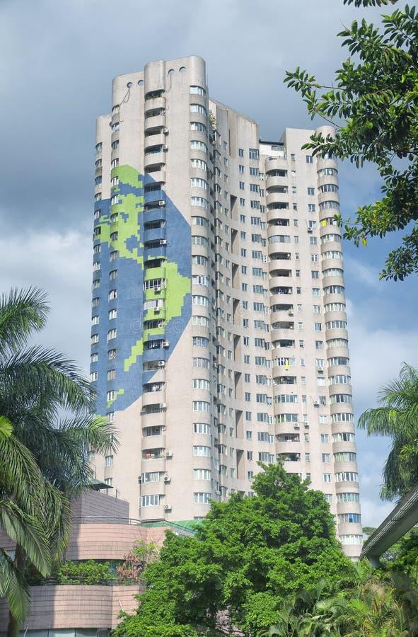 Construcción de viviendas en Shenzhen China imagen de archivo
