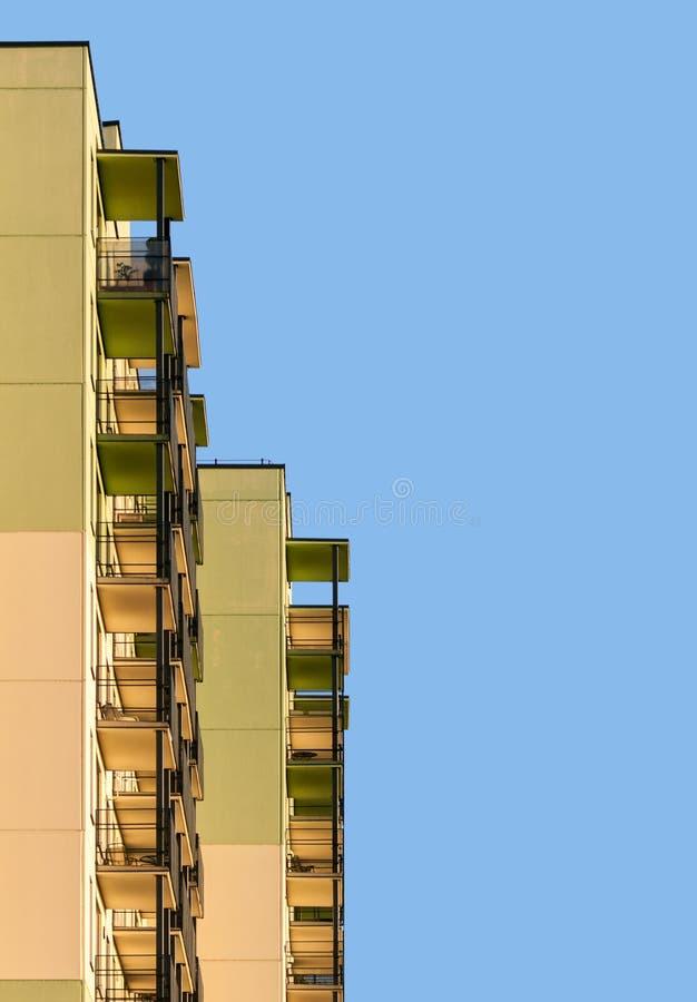 Construcción de viviendas moderna abstracta imagen de archivo libre de regalías