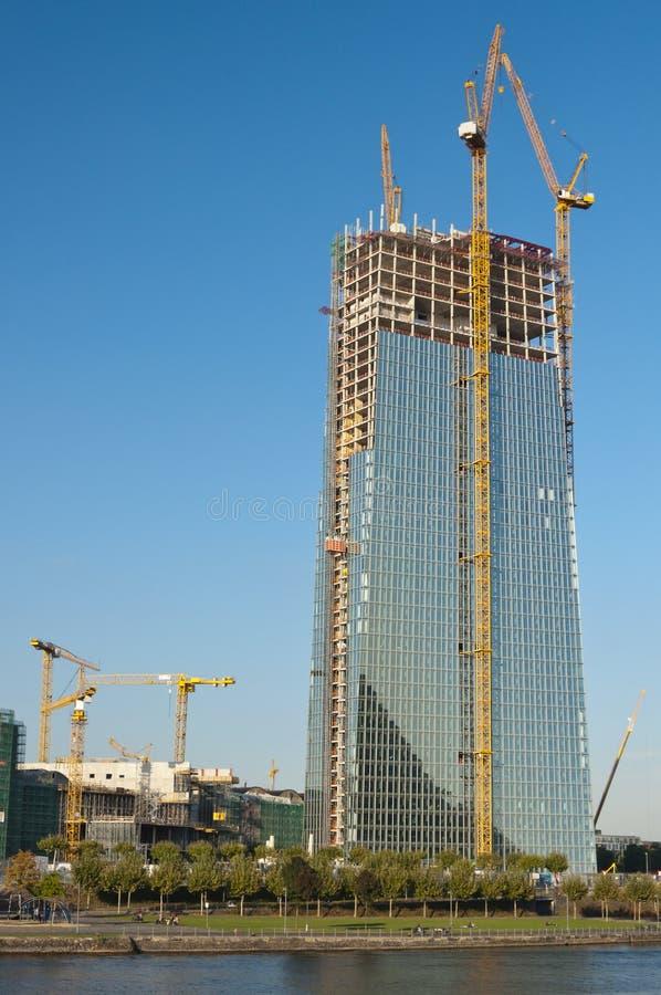 Construcción del Banco Central Europeo fotos de archivo