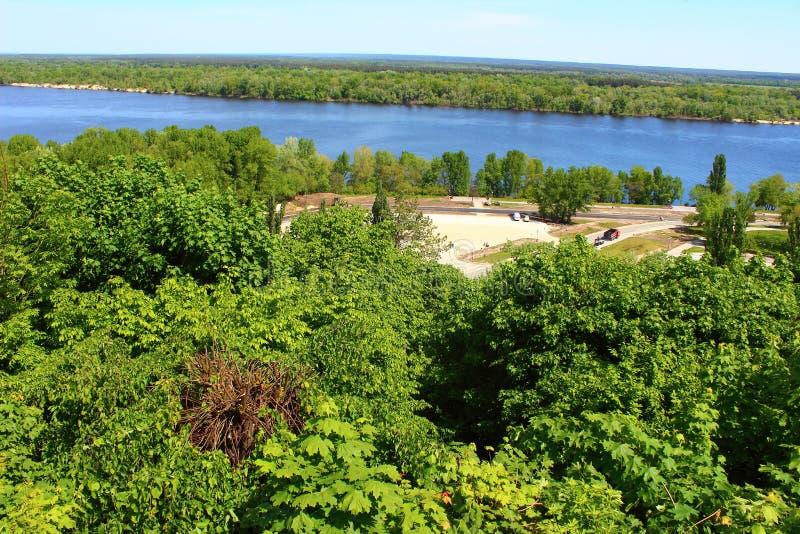 Download Construcción Del Camino Cerca Del Río Dnepr Imagen de archivo - Imagen de estación, cielo: 41910095