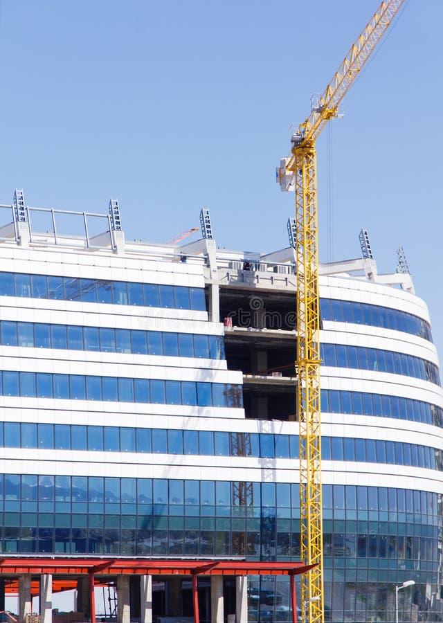 Construcción del edificio de oficinas fotos de archivo