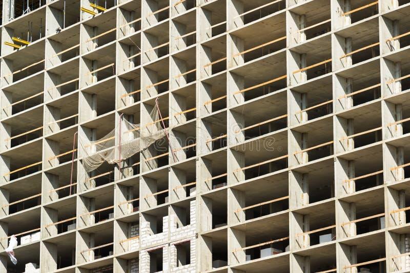 Construcción del edificio residencial monolítico en Moscú, Rusia imagenes de archivo