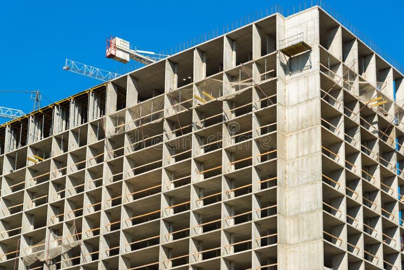 Construcción del edificio residencial monolítico en Moscú, Rusia imágenes de archivo libres de regalías